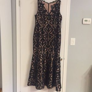 Black lace gown worn once